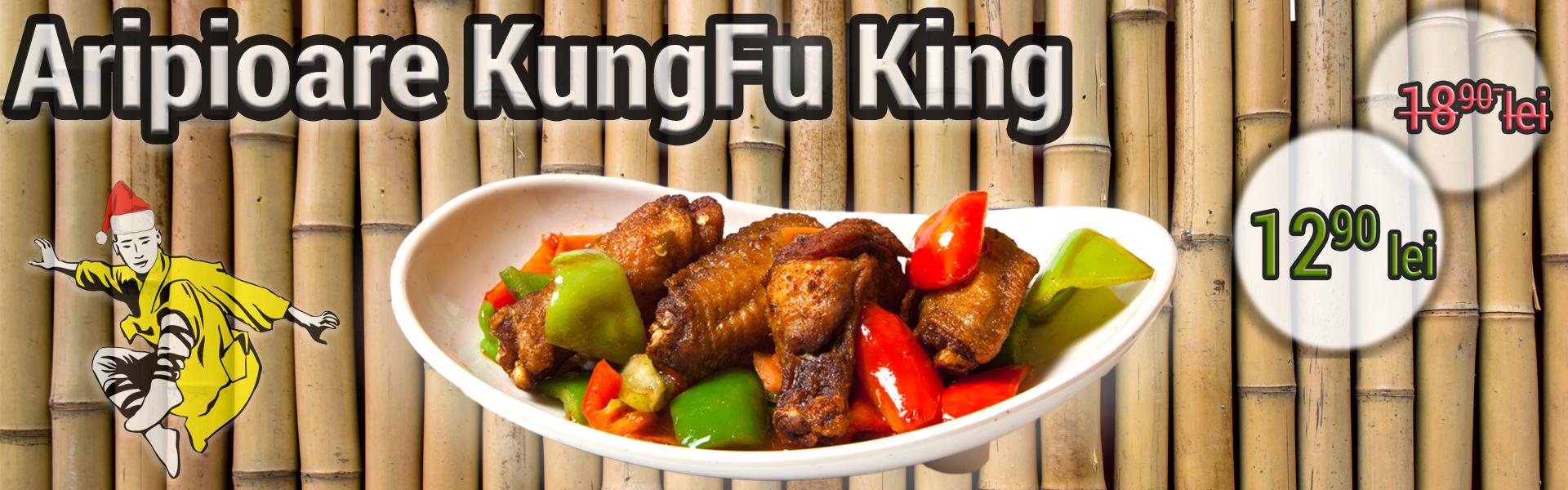 Aripioare KungFu King - Preparate de pui - restaurant chinezesc KungFu King - de la 18.90 lei la doar 12.90 lei. Alege traditia, savoarea si calitatea restaurantului chinezesc KungFu King din Bucuresti!Comanda mancare chinezeasca online pentru a putea beneficia de ofertele speciale si vei primi serviciul de livrare mancare chinezeasca in mod gratuit!