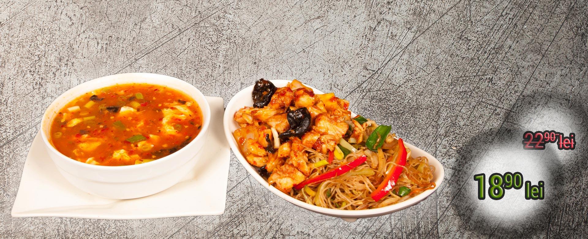 Meniul supă este alegerea perfectă pentru o masă deliciosă, marca KungFu King, ce conţine o supă, un fel principal şi o garnitură. Alege mâncare chinezească de calitate, marca KungFu King. Acum puteţi face comanda online şi vă puteţi, astfel, bucura de ofertele speciale oferite de restaurantul chinezesc KungFu King din Bucureşti.
